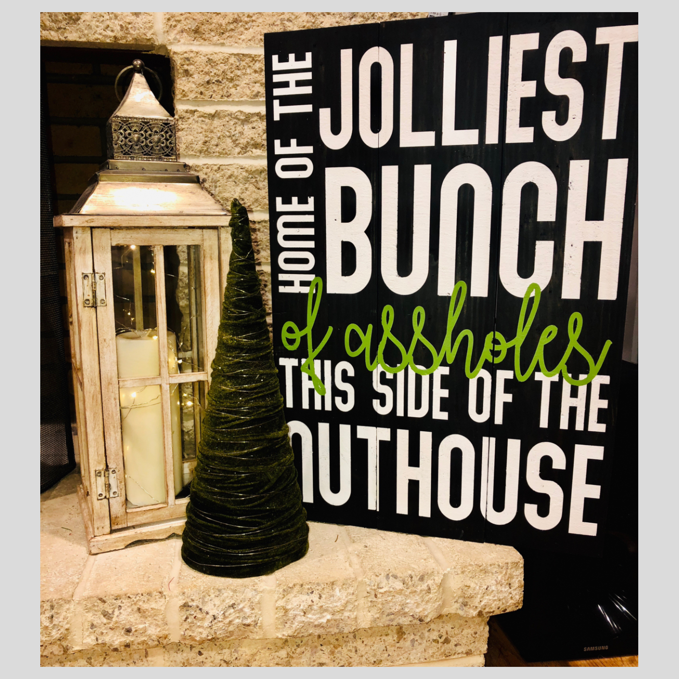 Jolliest Bunch DIY Wood Sign Christmas