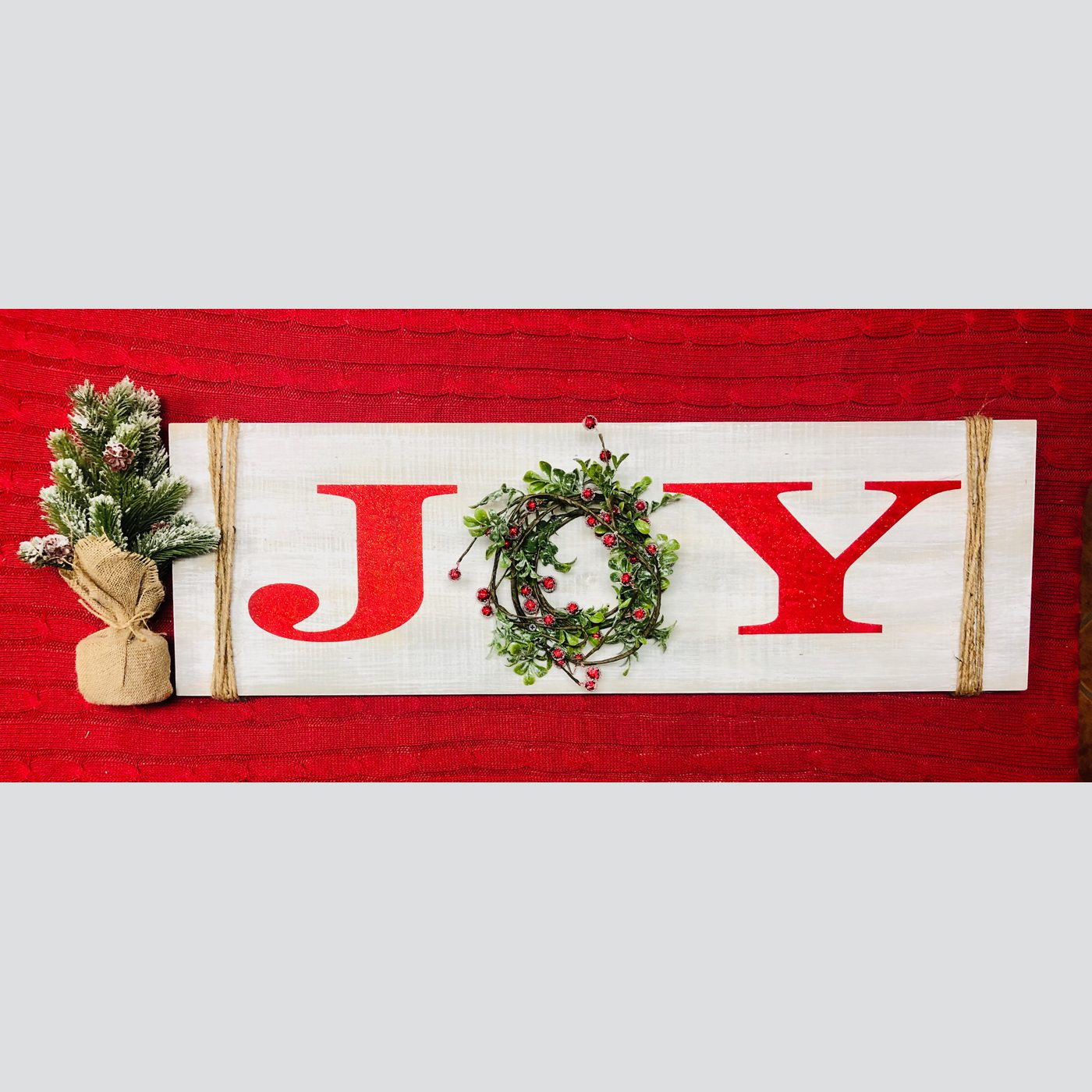 Joy DIY wood sign christmas