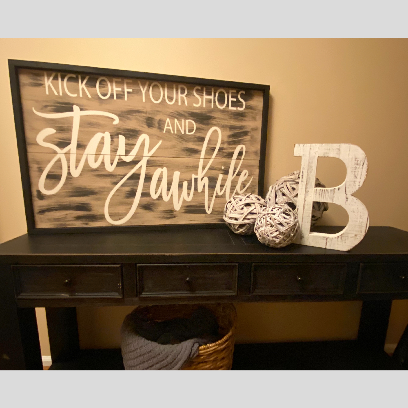 Kick Off Your Shoes and Stay Awhile DIY Wood Project Home