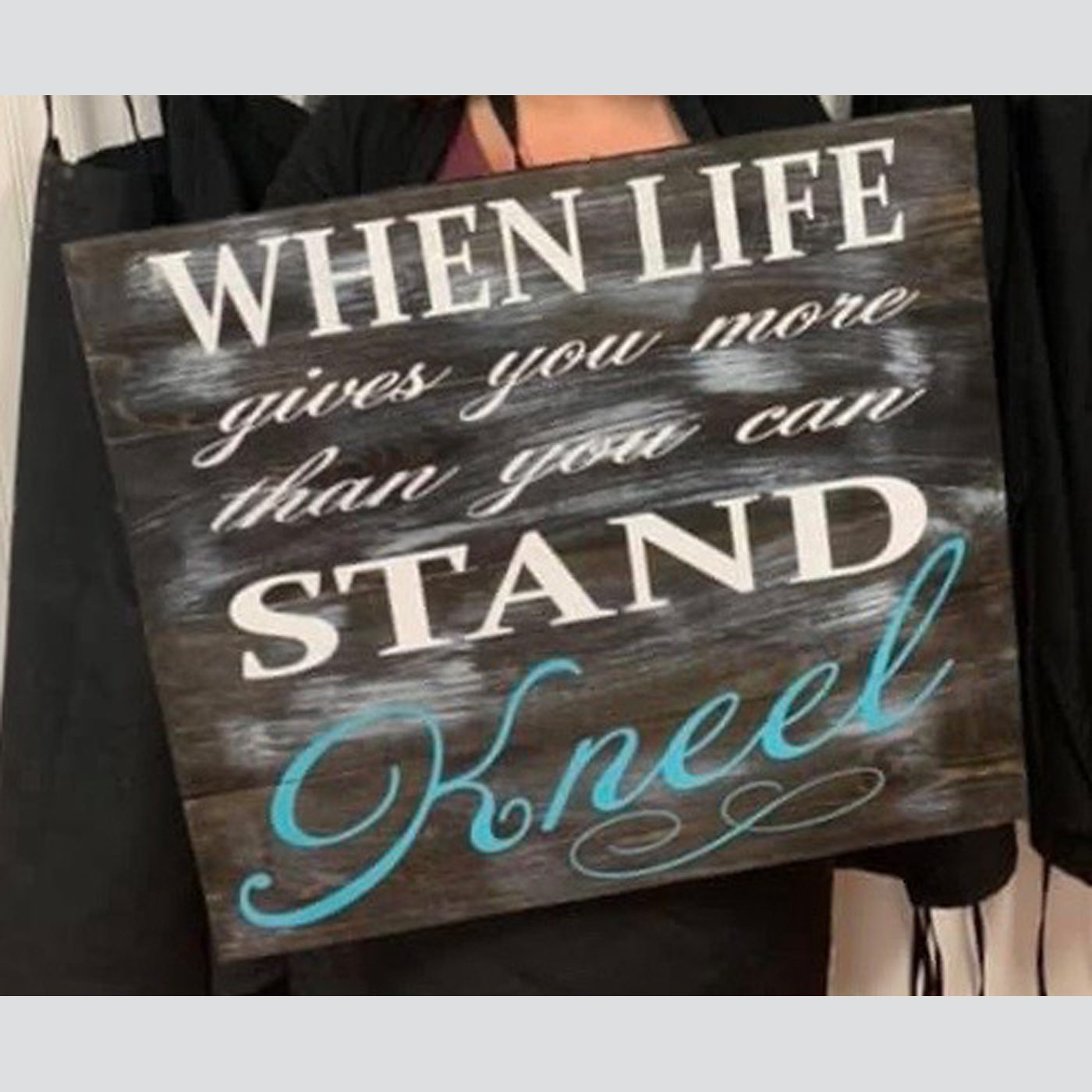 Kneel DIY wood sign