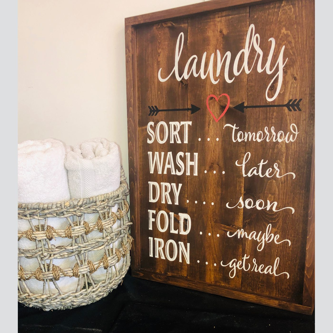 Laundry Sort & Wash DIY wood sign