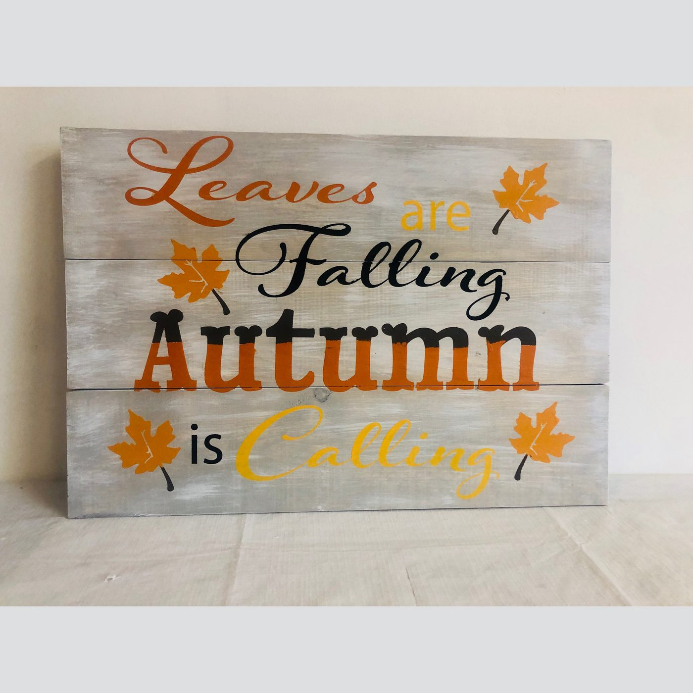 Leaves are Falling DIY wood sign