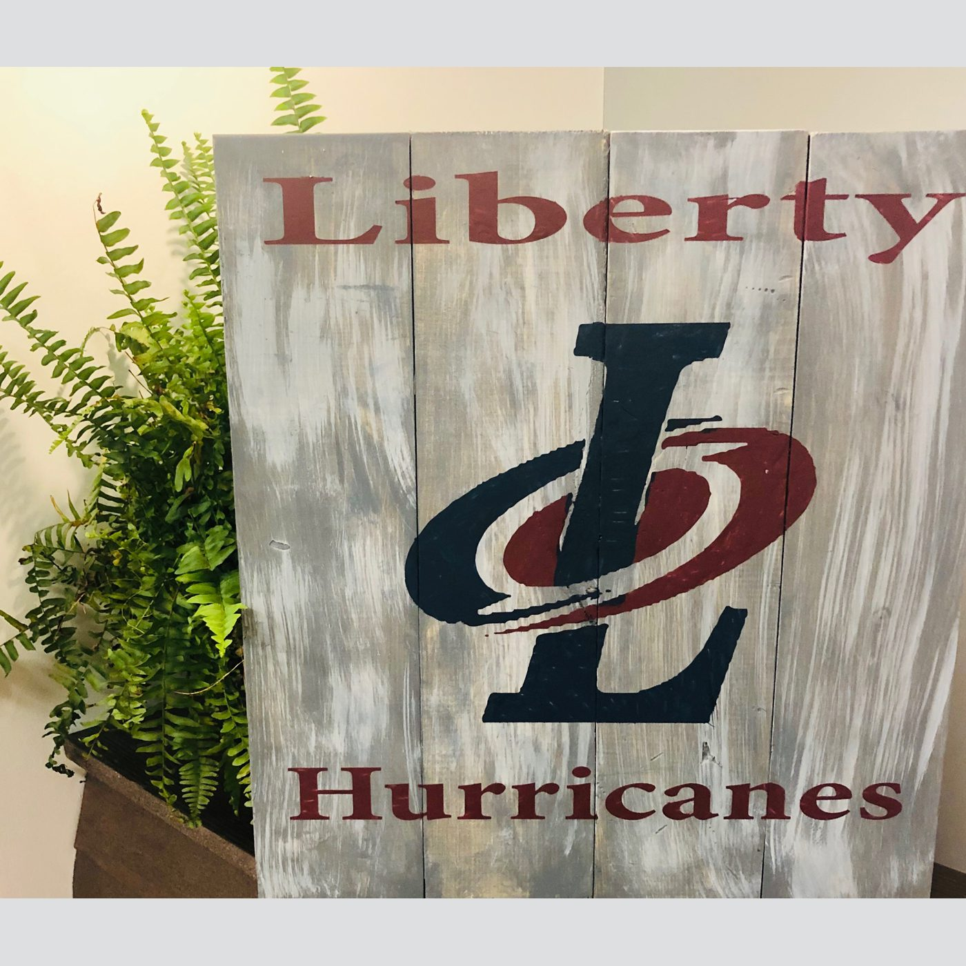 Liberty Hurricanes DIY wood signs football bethlehem