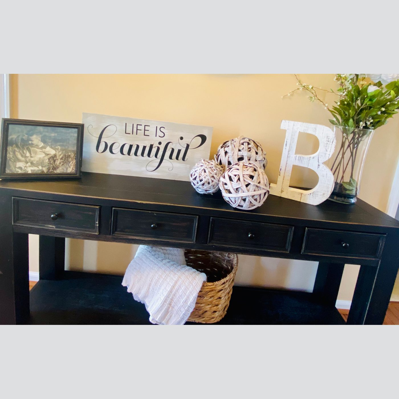 Life is Beautiful DIY wood sign project