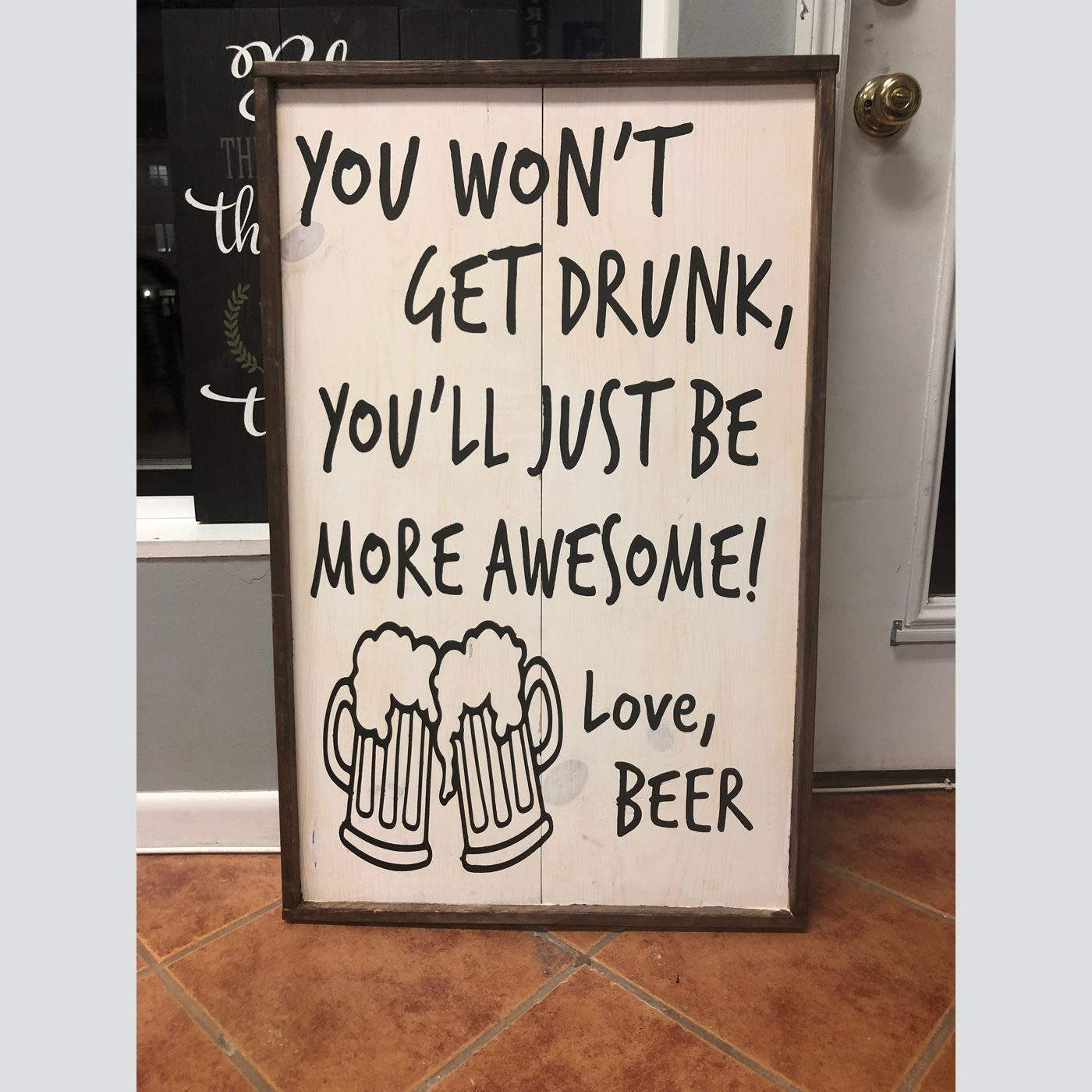 Love, Beer DIY wood sign