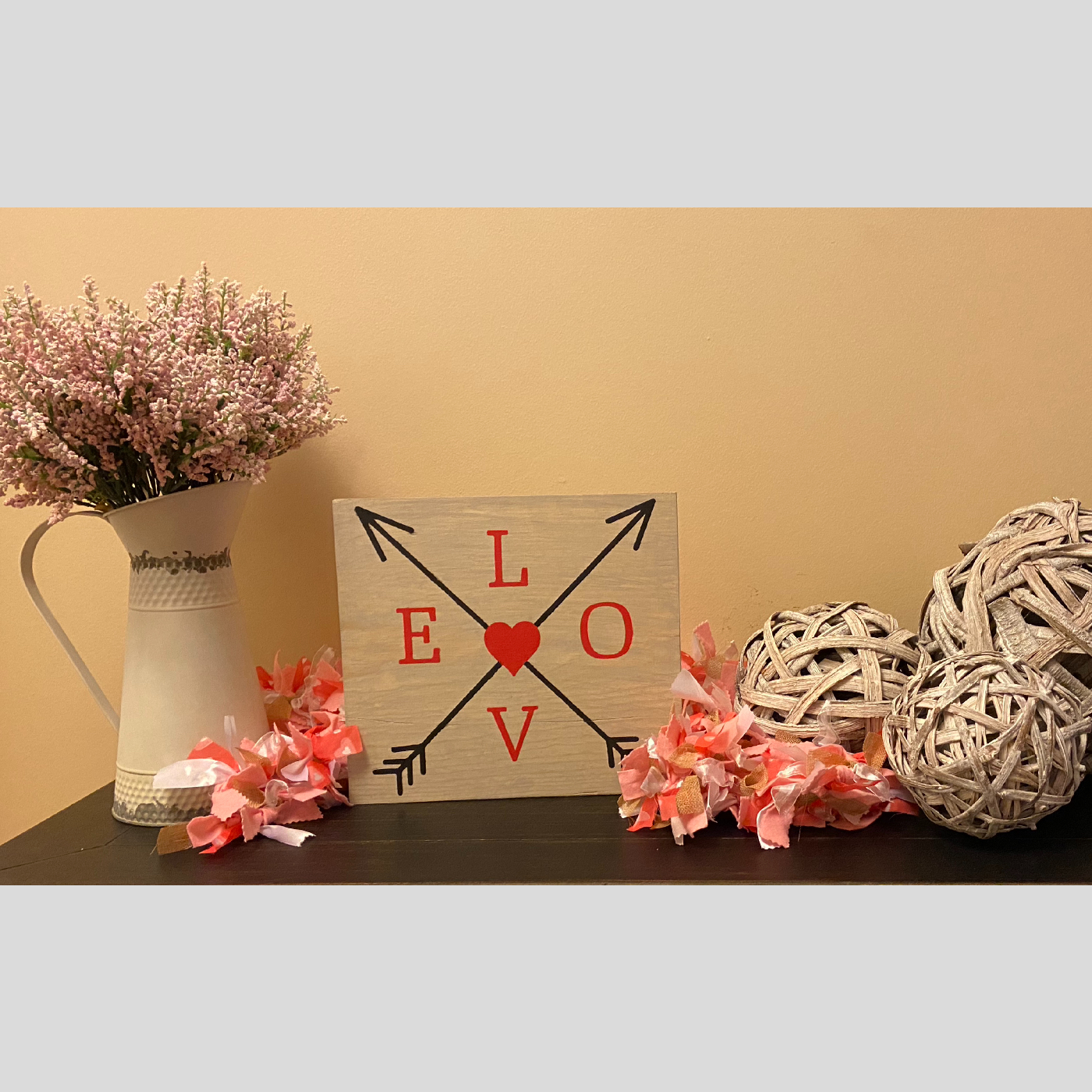 Love with Arrows DIY wood project valentines day