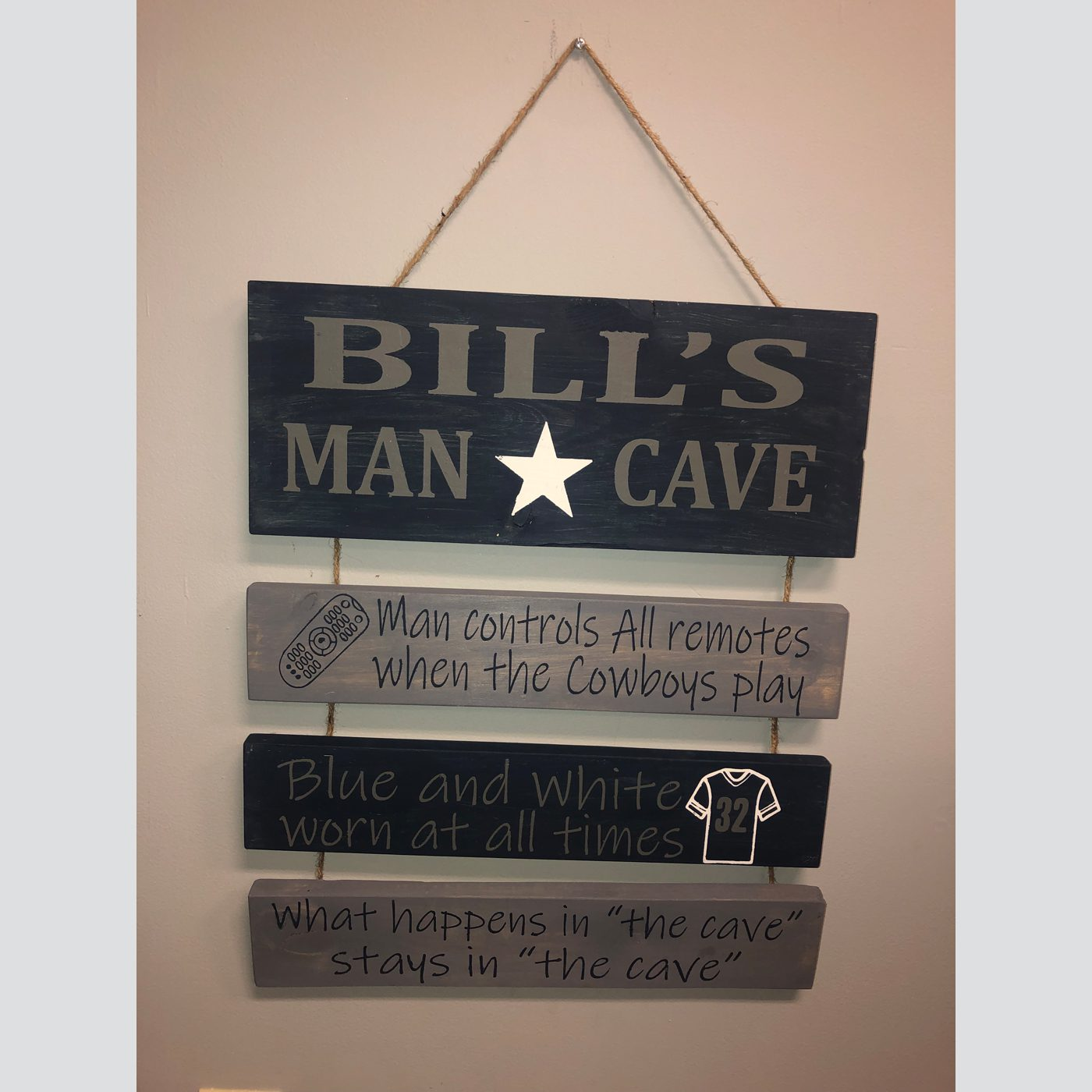Man Cave Personalized DIY wood sign