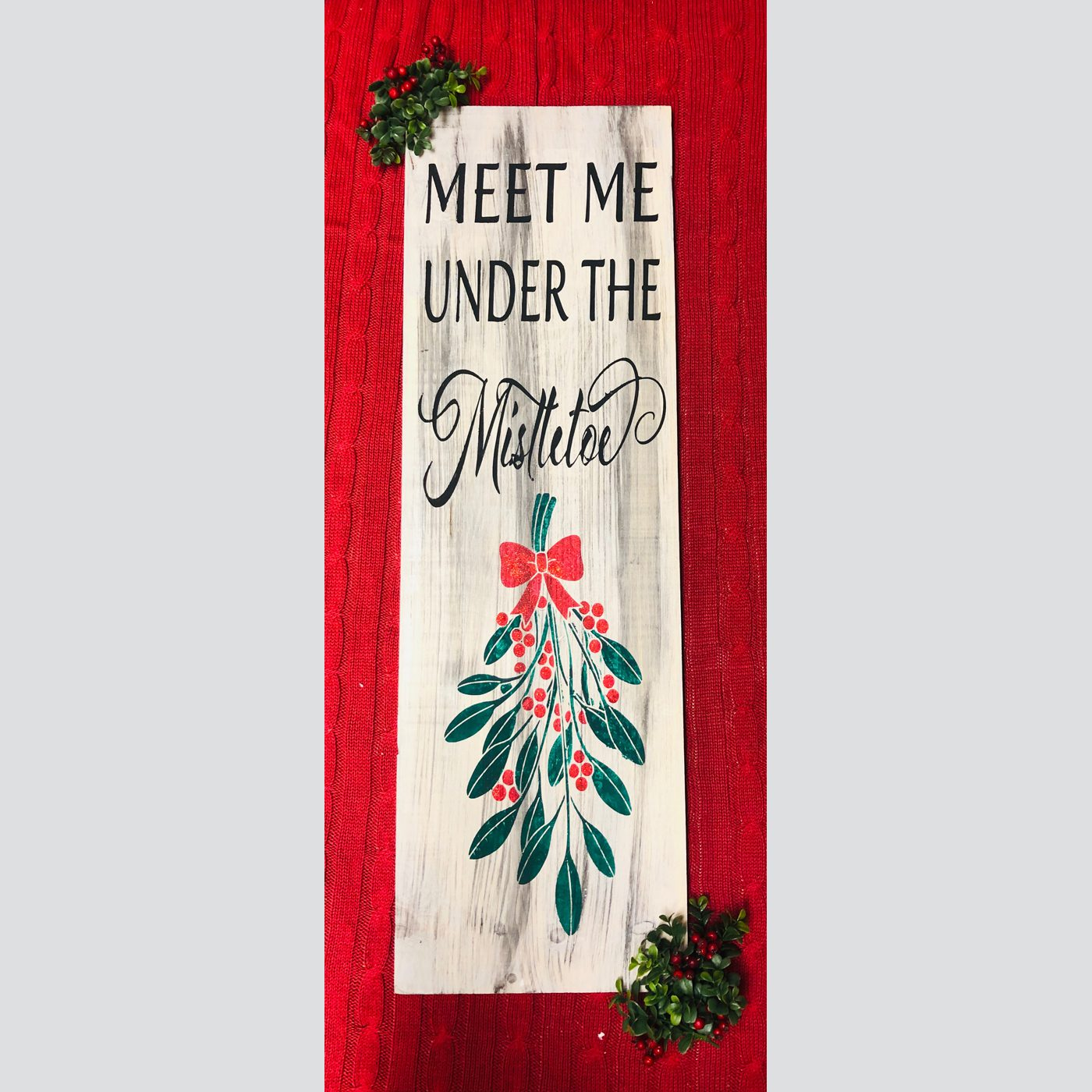 Meet me Under the Mistletoe DIY wood sign christmas