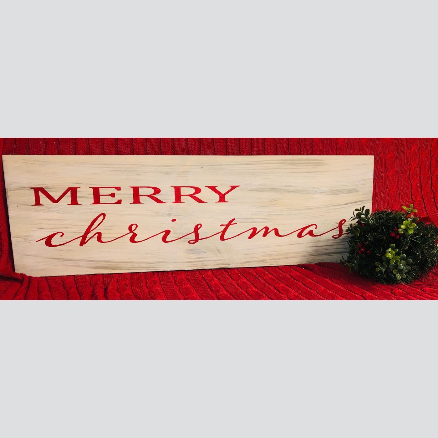 Merry Christmas DIY wood sign
