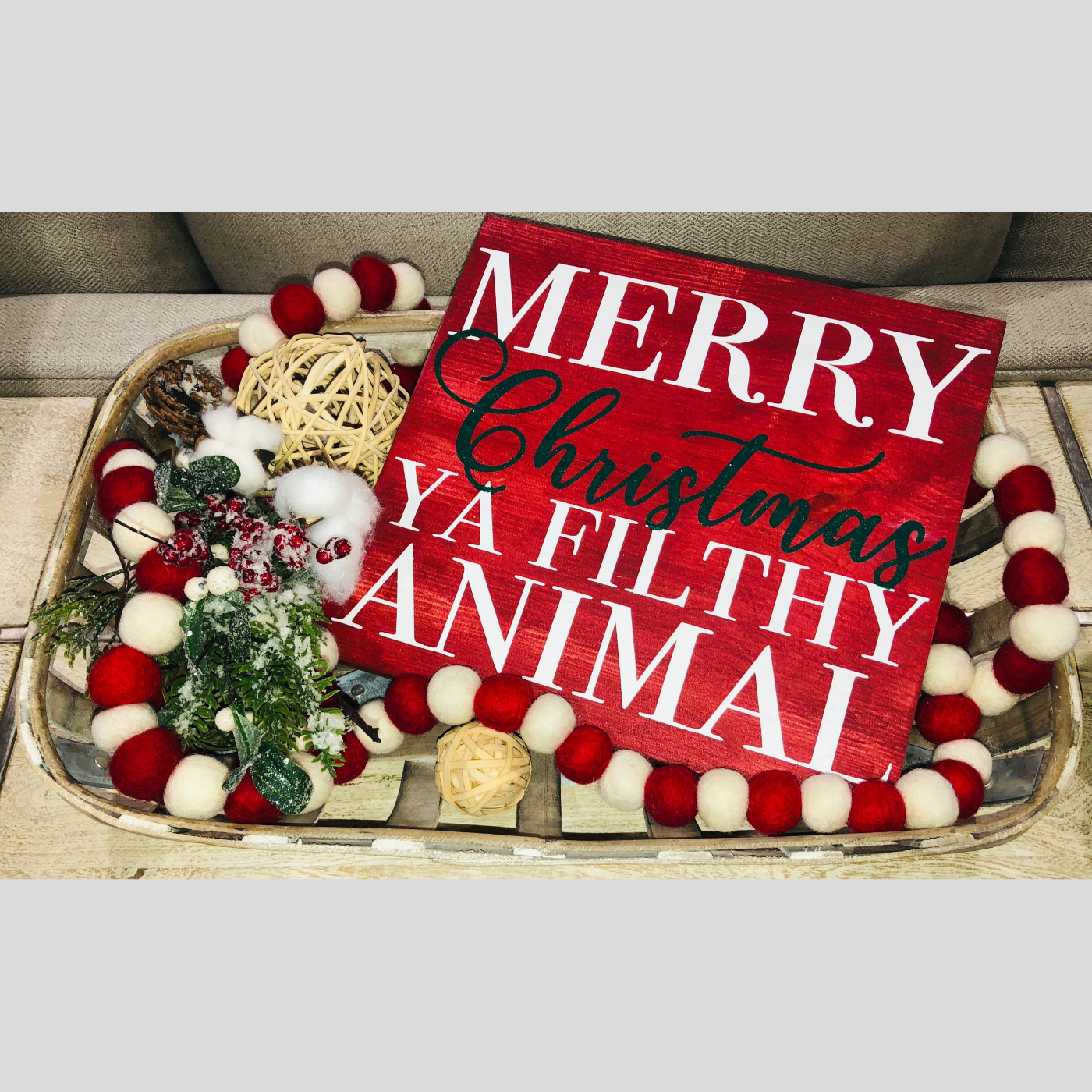 Merry Christmas Ya Filthy Animal DIY Wood Sign Bethlehem PA