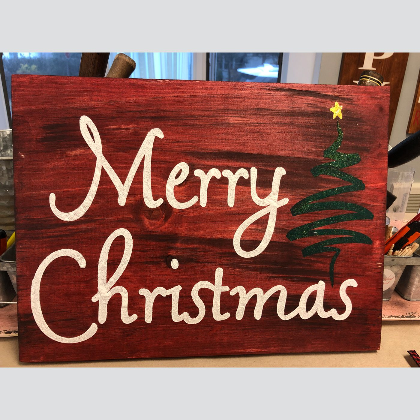 Merry Christmas with Tree DIY wood project