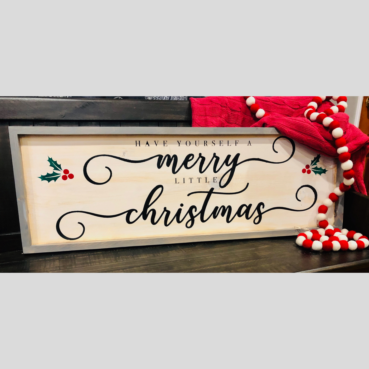 Merry Little Christmas DIY Wood Sign Bethlehem PA