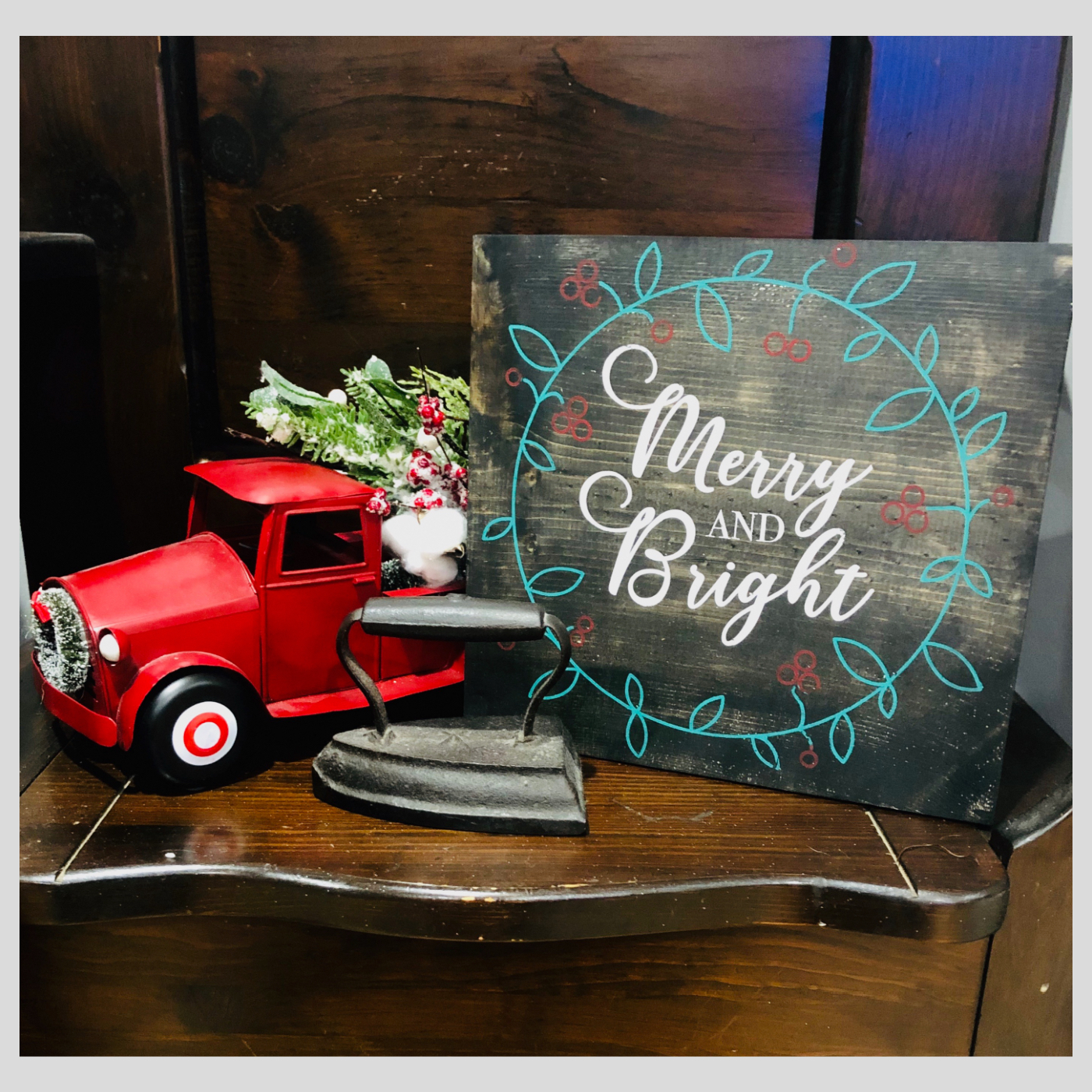 Merry and Bright DIY Wood Sign Bethlehem PA