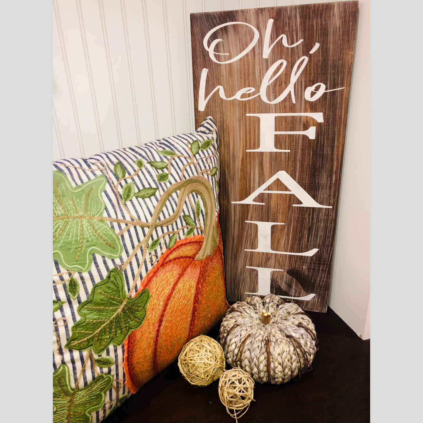 Oh, Hello FALL DIY Wood Sign Bethlehem PA