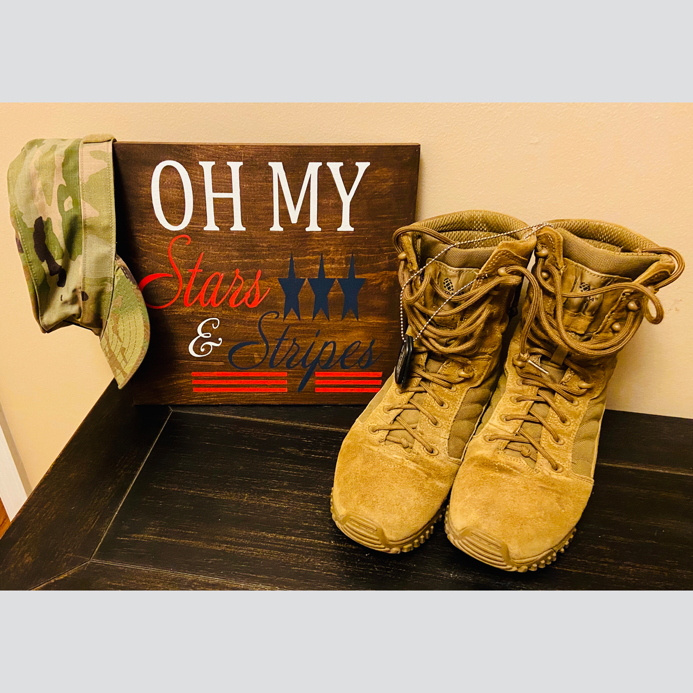 Oh My Stars DIY wood sign 4th of july, memorial day