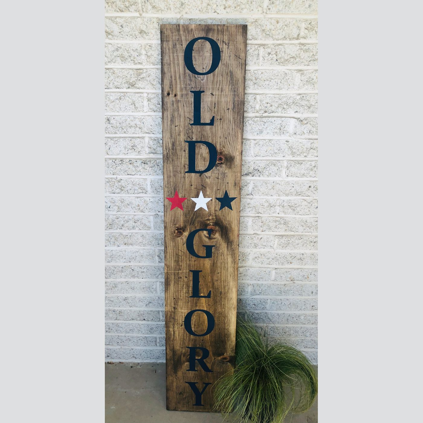 Old Glory DIY wood sign welcome patriotic