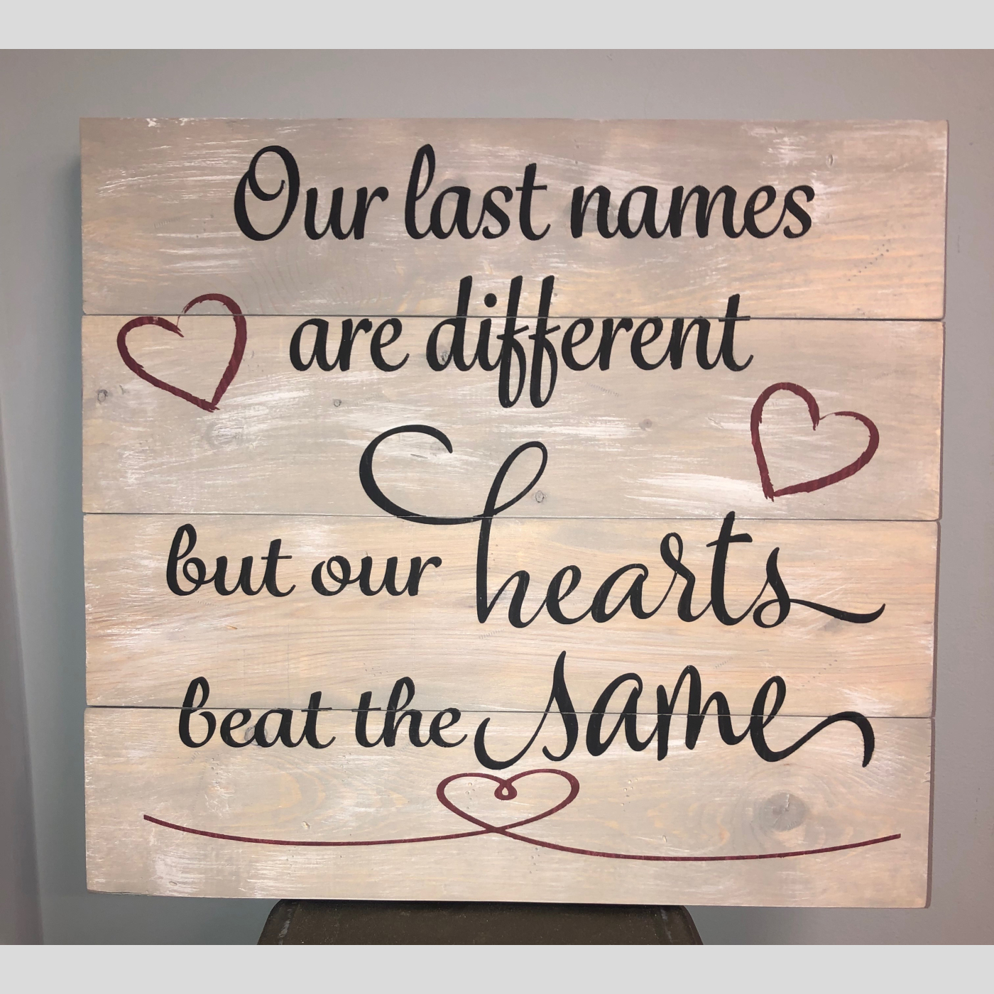 Our Last Names DIY Wood Sign Bethlehem PA