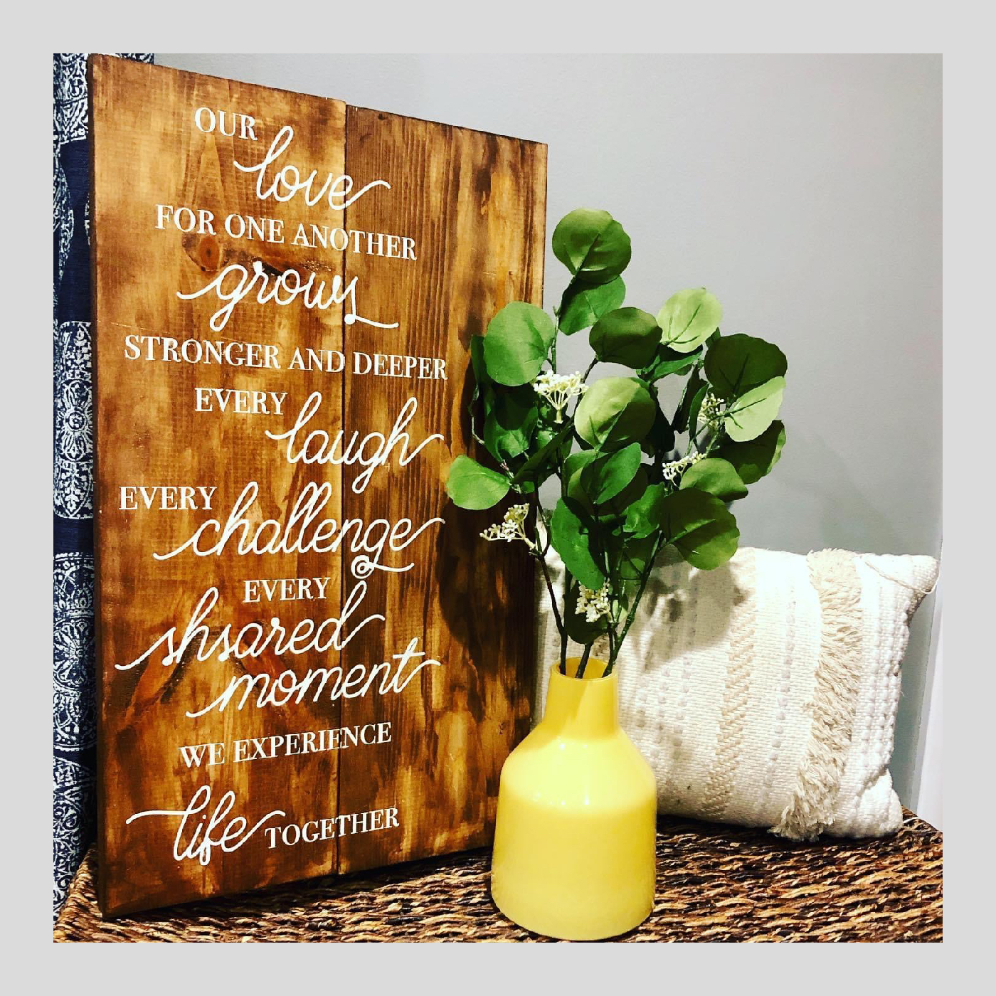 Our Love for One Another DIY wood project
