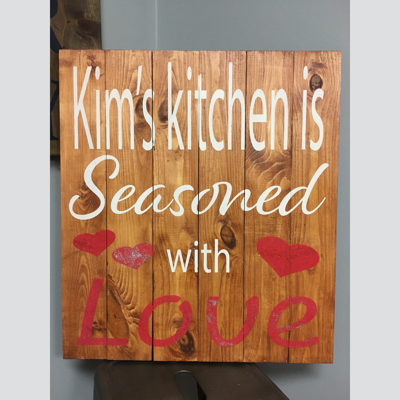 Personalized Kitchen - Seasoned with Love DIY wood sign