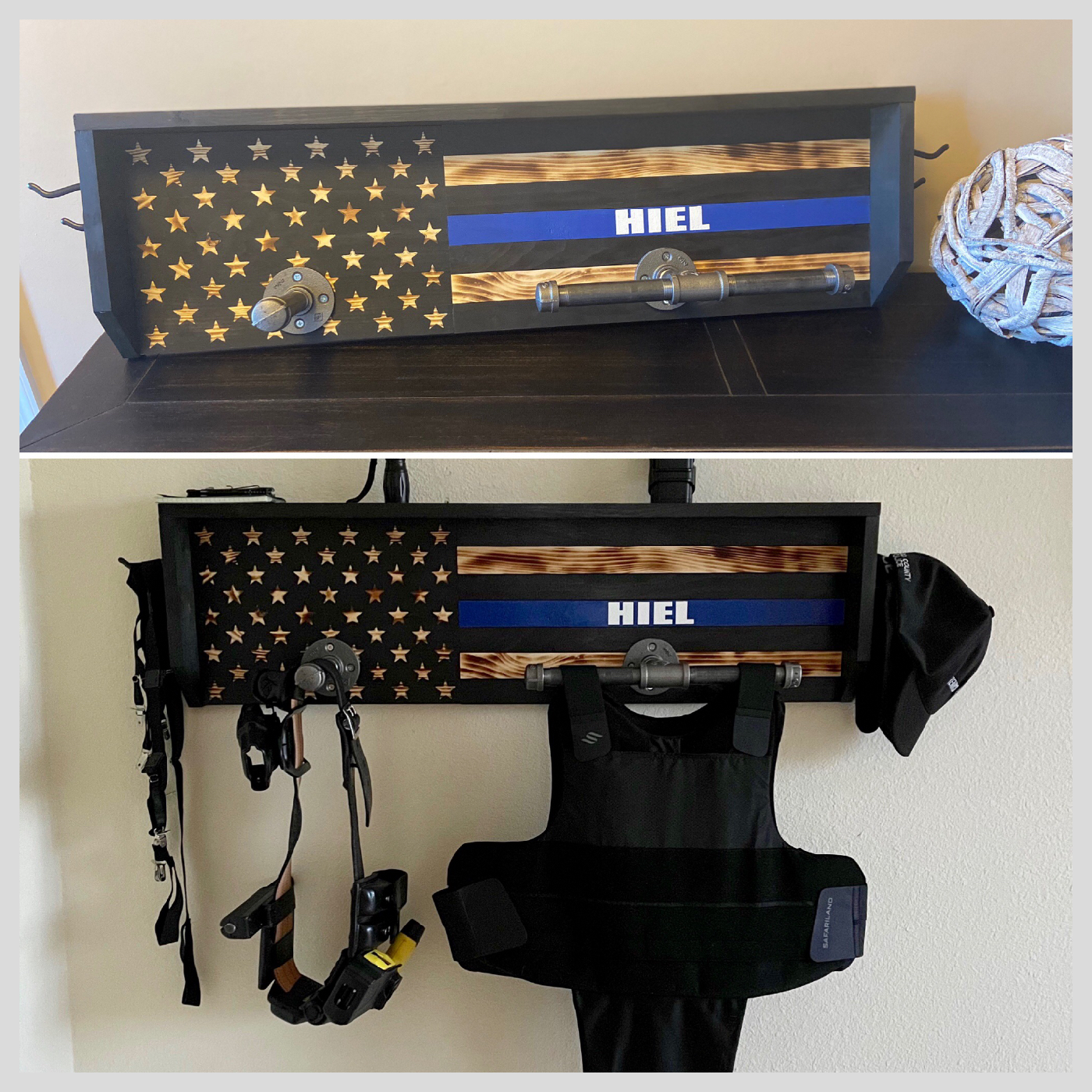 Personalized Police Shelf DIY wood project thin blue line