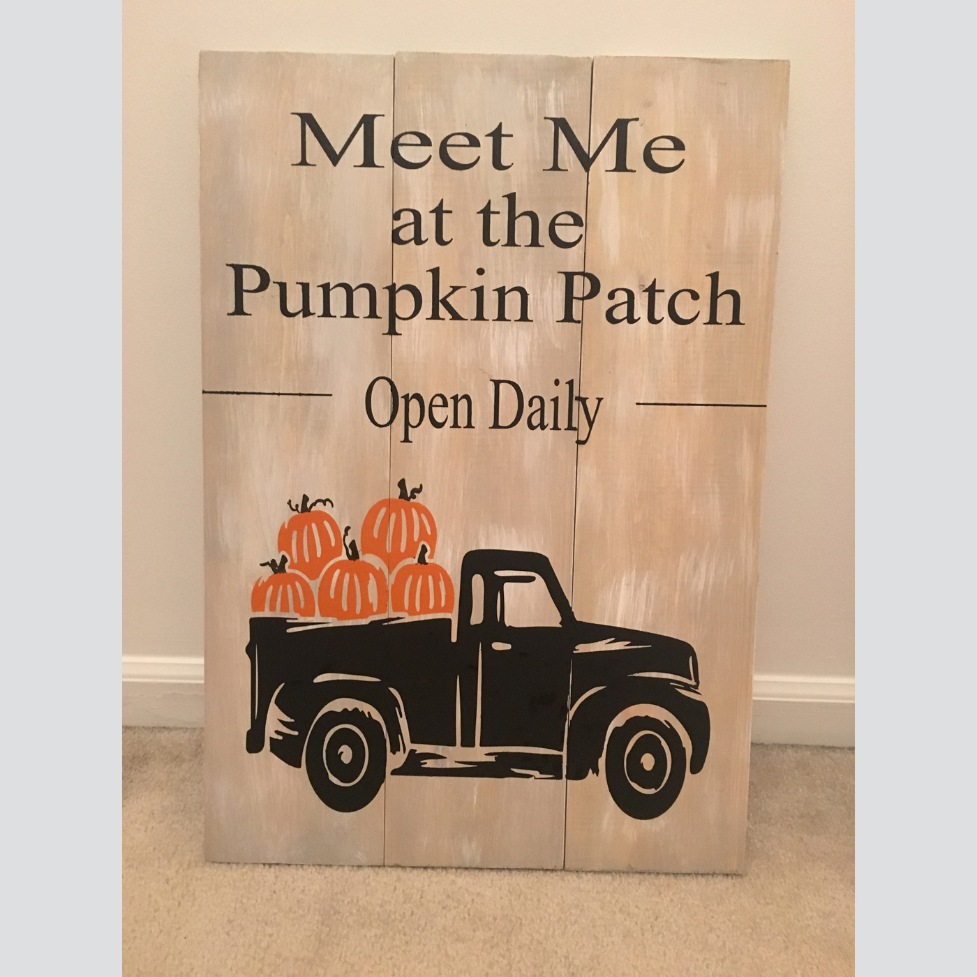 Pumpkin Patch DIY wood sign fall