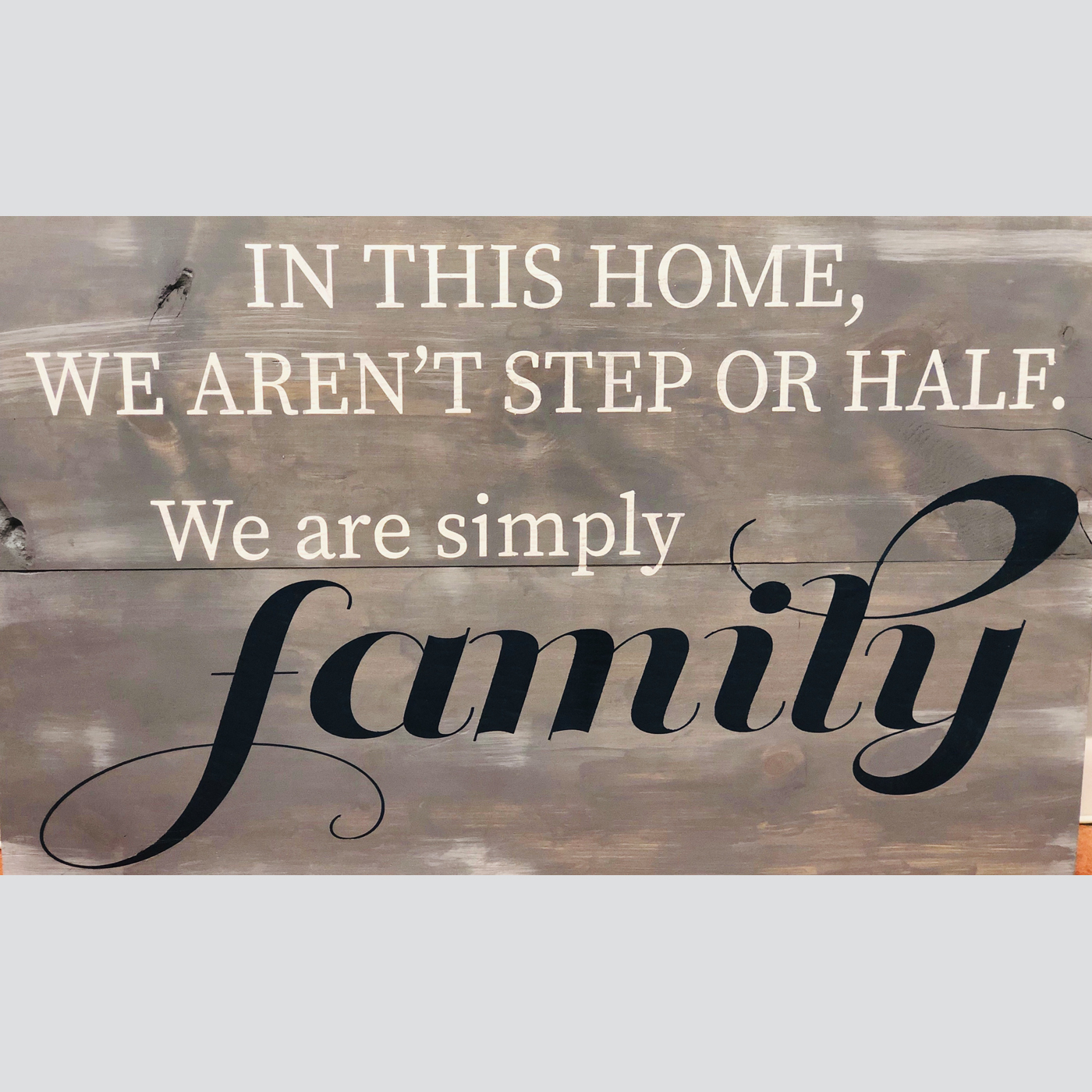 Simply Family DIY Wood Sign