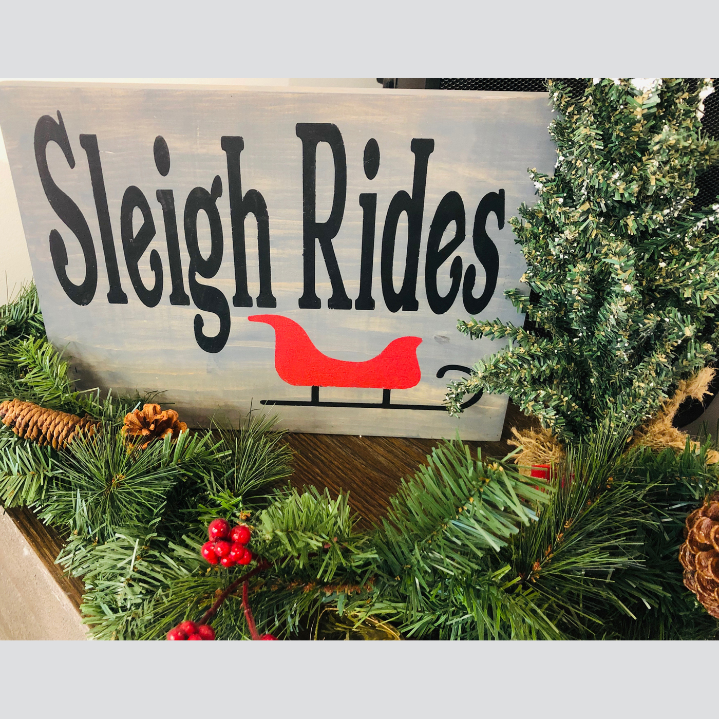 Sleigh Rides DIY Wood Signs Christmas