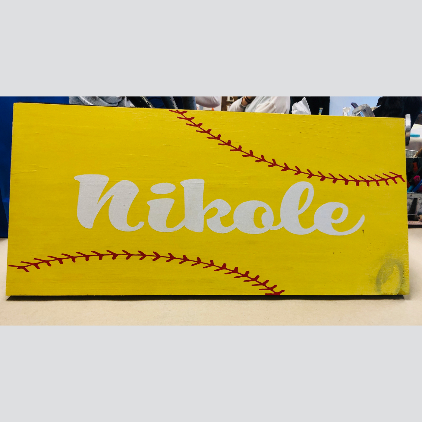 Softball or Baseball with Personalization DIY Wood Sign Sports Kids