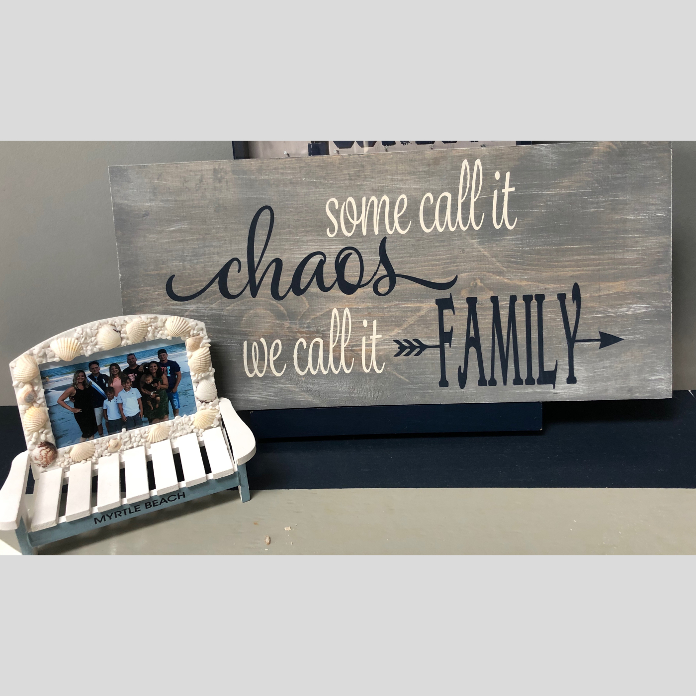 Some Call it Chaos DIY wood sign