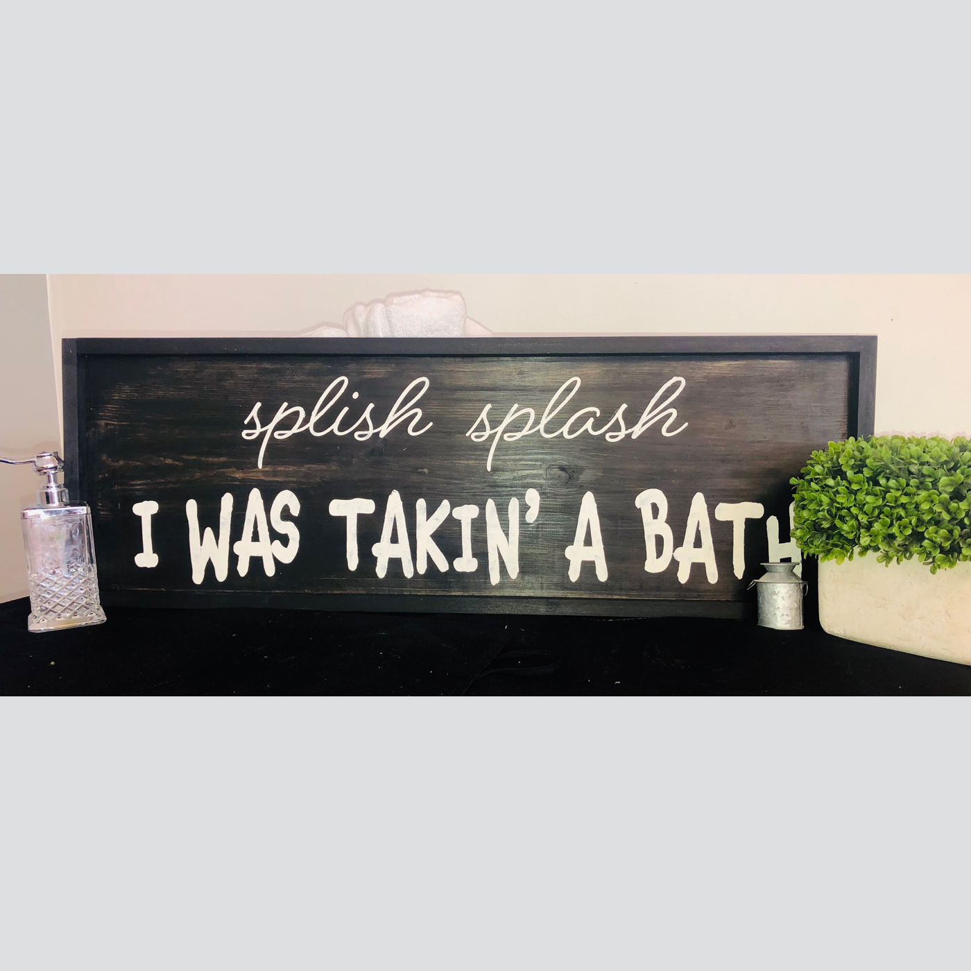 Splish Splash DIY wood sign bathroom