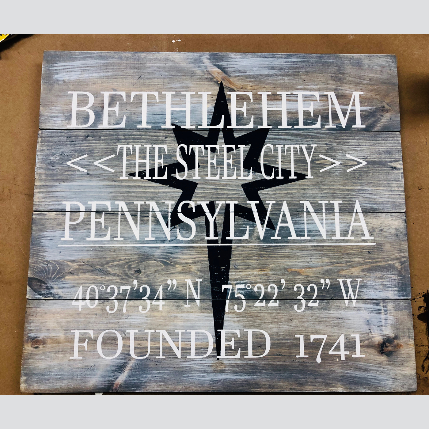 Steel City DIY wood sign