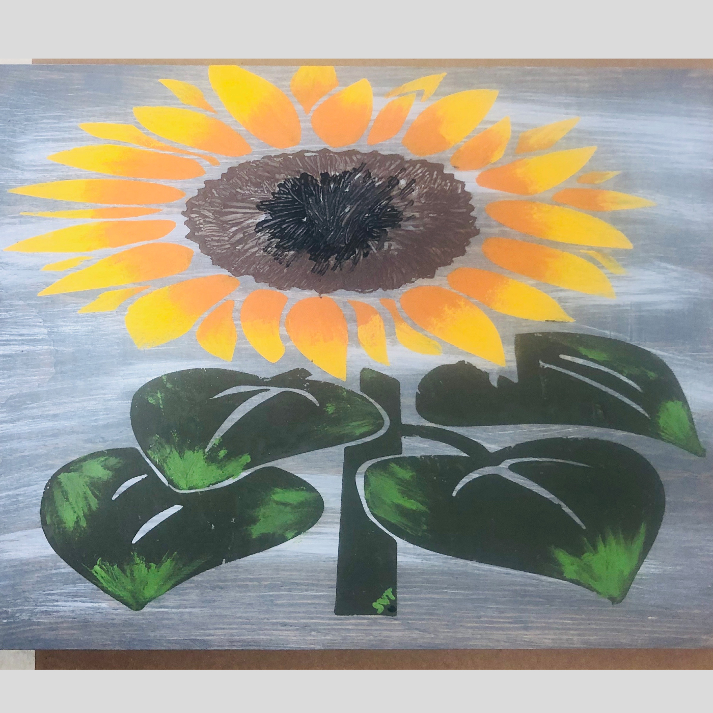Sunflower DIY wood sign