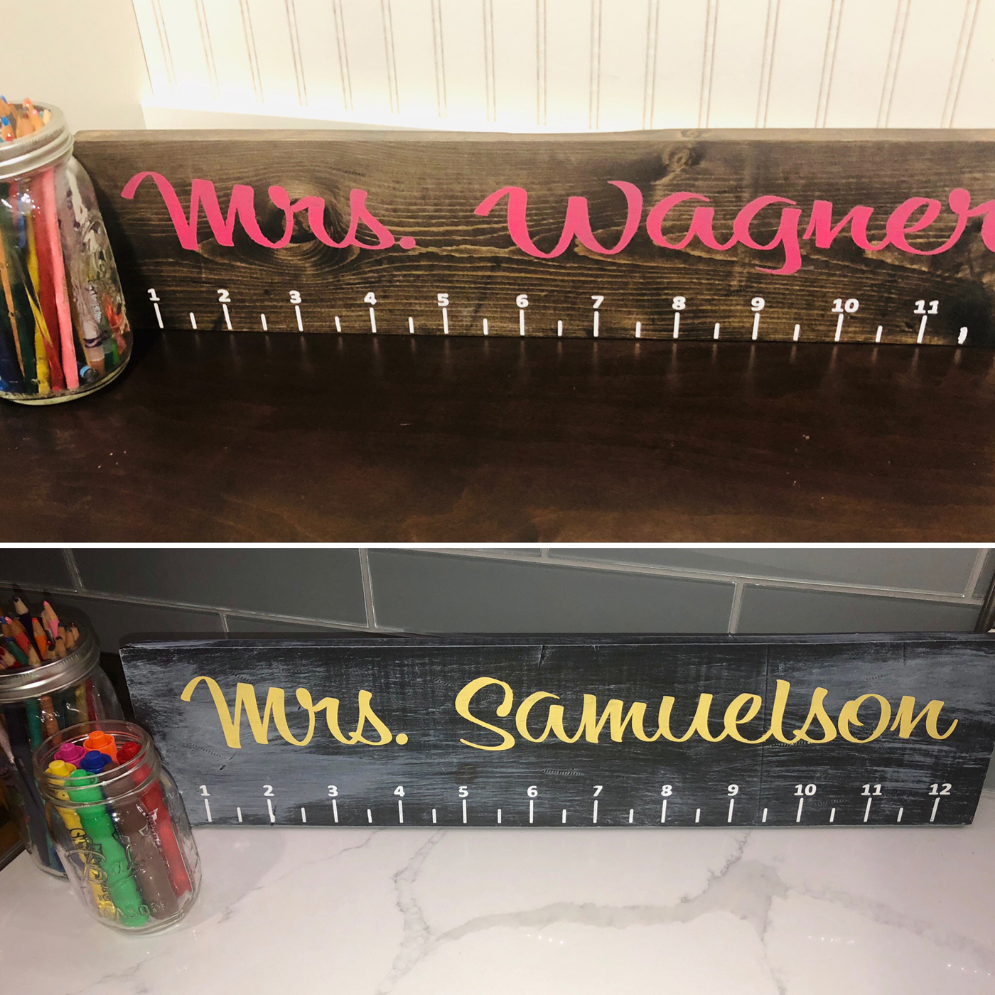 Teacher Ruler DIY Wood Sign