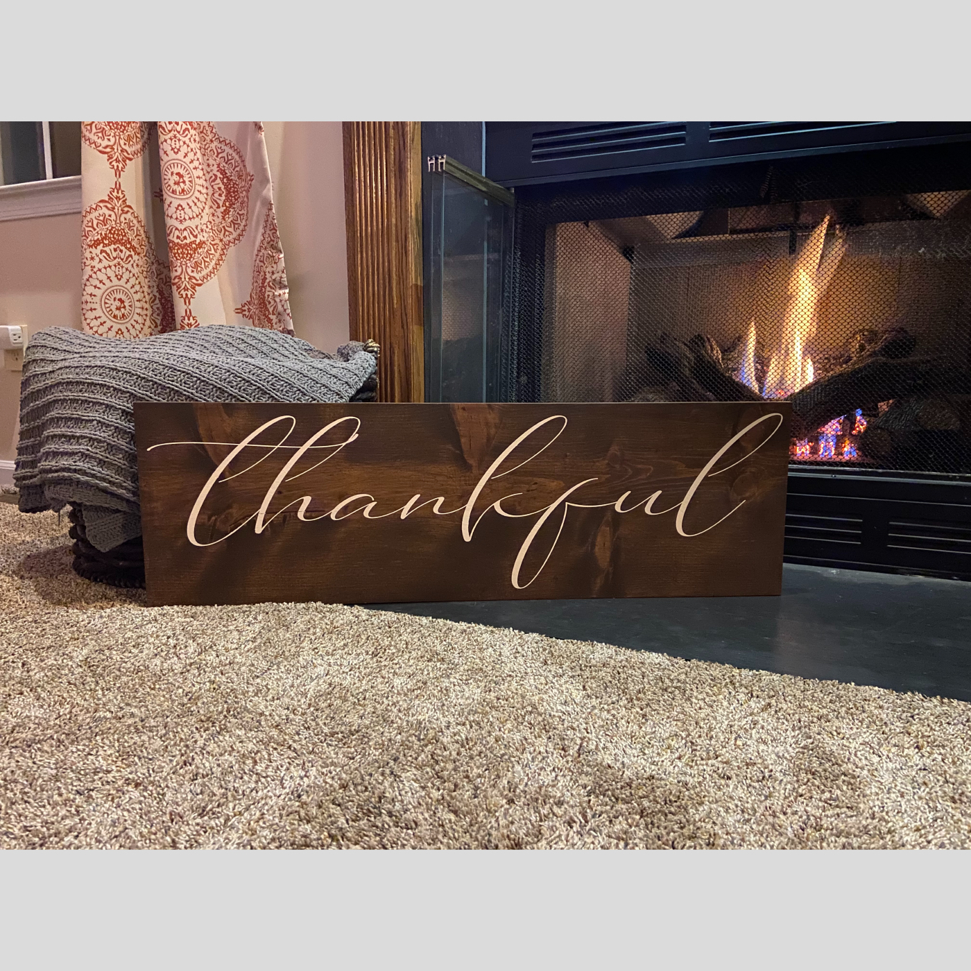 Thankful DIY Wood Sign Bethlehem PA