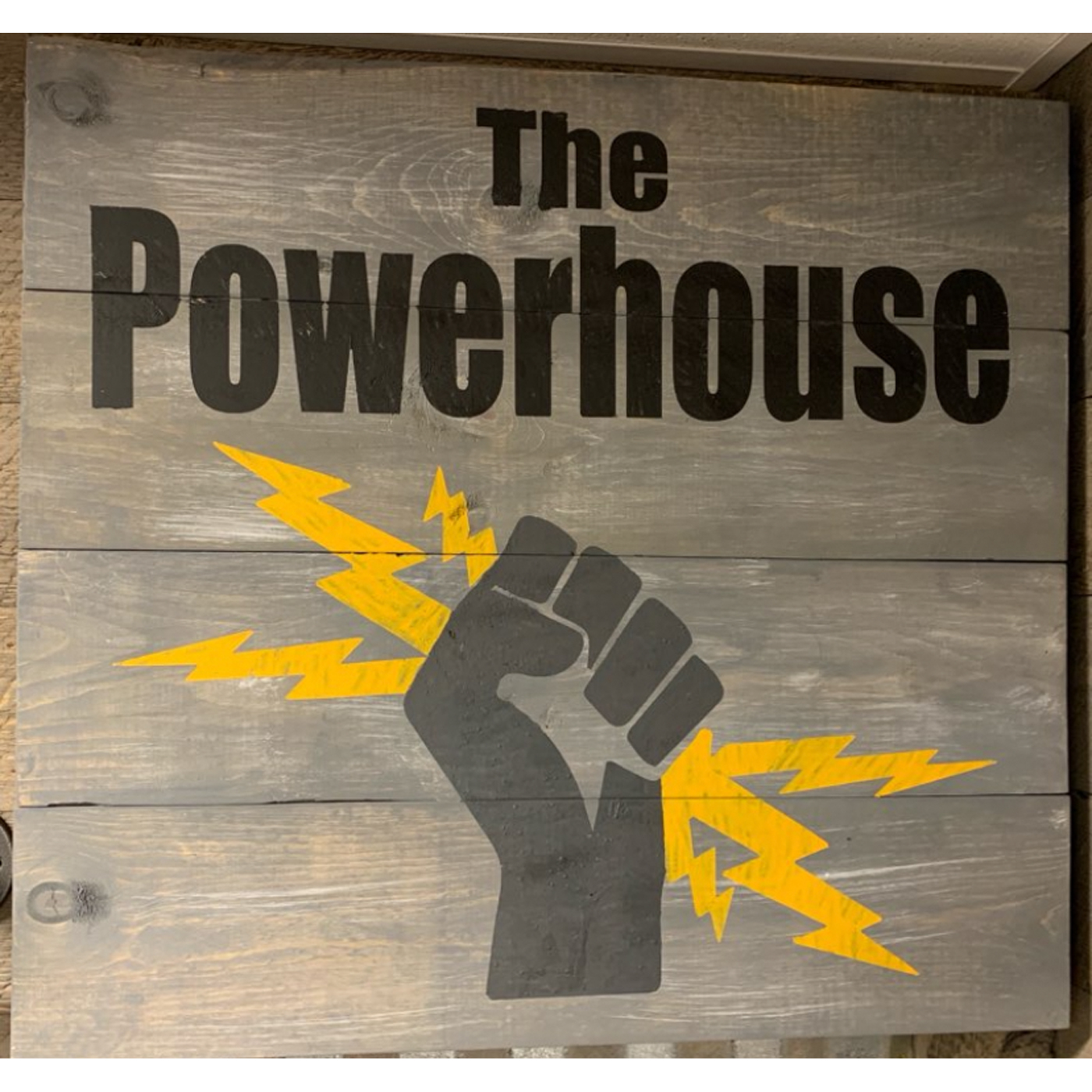 The Powerhouse DIY wood sign