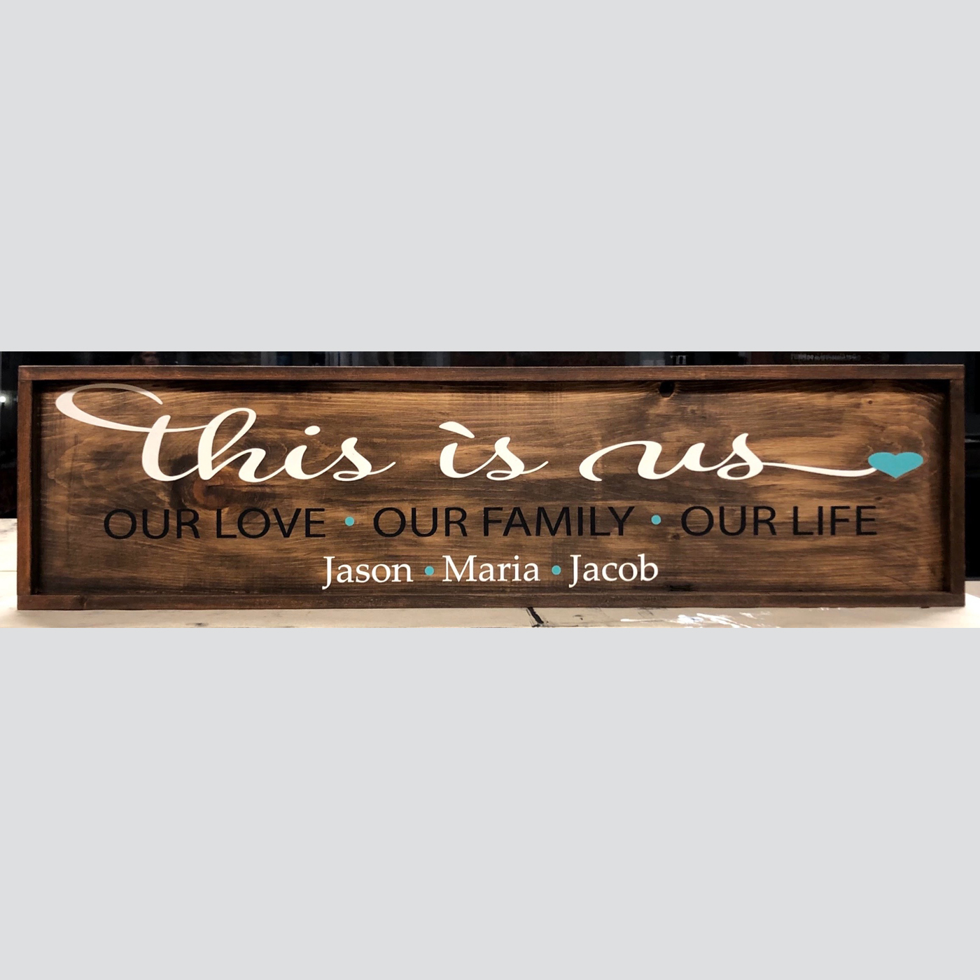 This Is Us - Our Love, Our Family, Our Life DIY wood sign