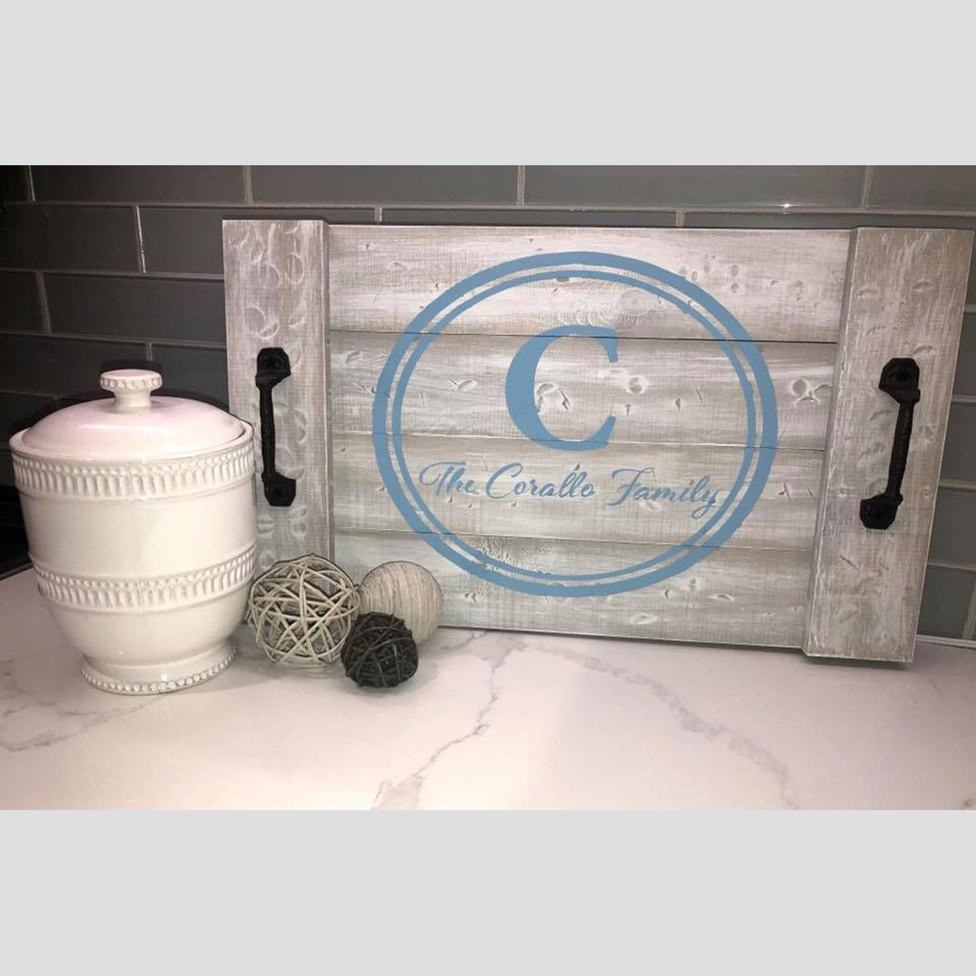 Tray - Circle Monogram DIY Wood Sign Project