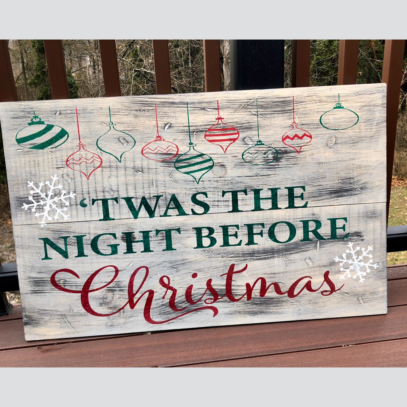 Twas the Night Before Christmas DIY wood sign