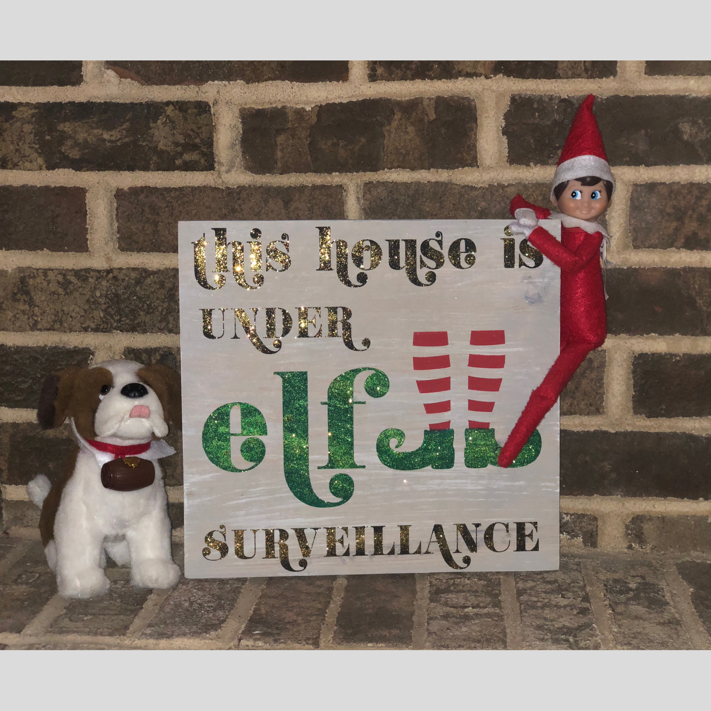 Under Elf Surveillance DIY Wood Sign Bethlehem PA