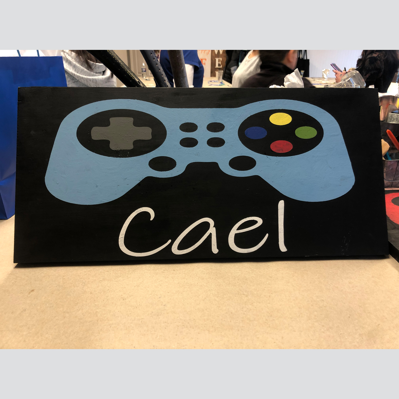 Video Game Controller with Personalization DIY wood sign kids