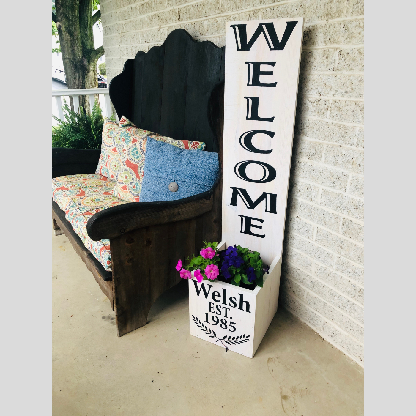 Welcome Planter DIY Wood Sign Bethlehem PA