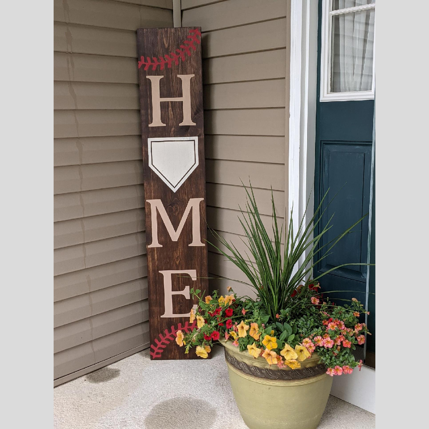Welcome Sign - Home Baseball DIY wood projects sports