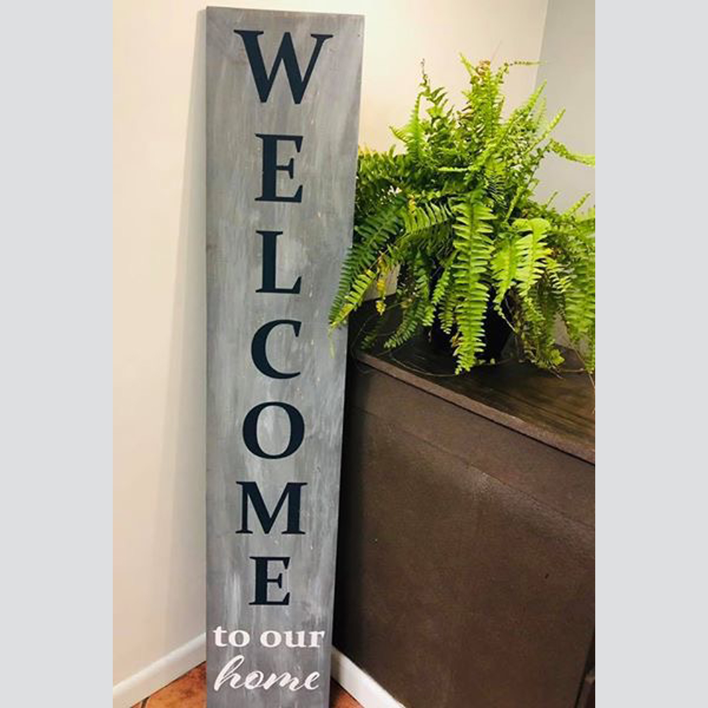 Welcome to Our Home Sign DIY wood Sign Project