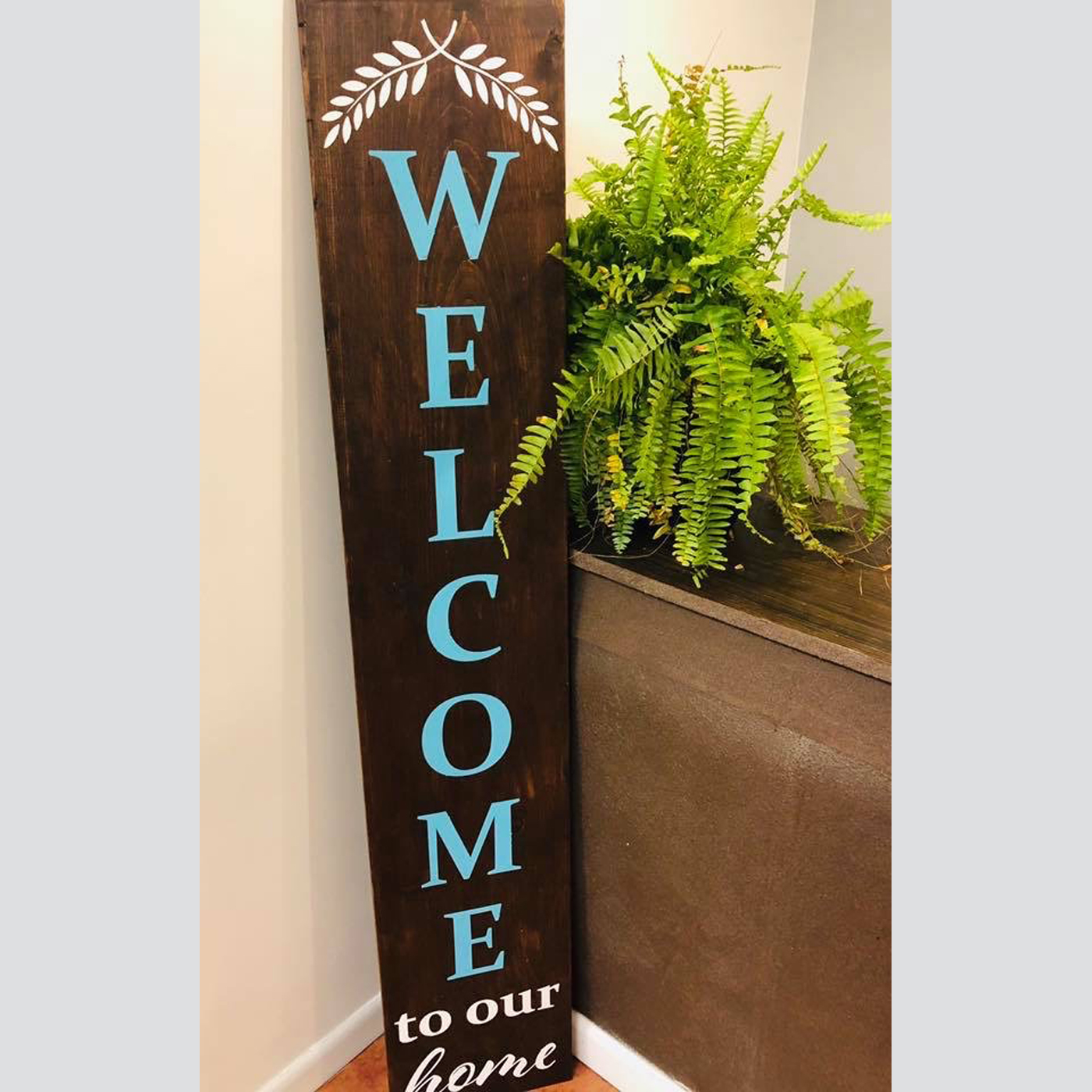 Welcome to Our Home Sign with Branches DIY Wood Sign Project