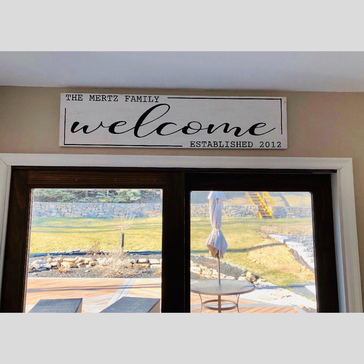 Welcome Sign with Name and Established Date DIY wood project