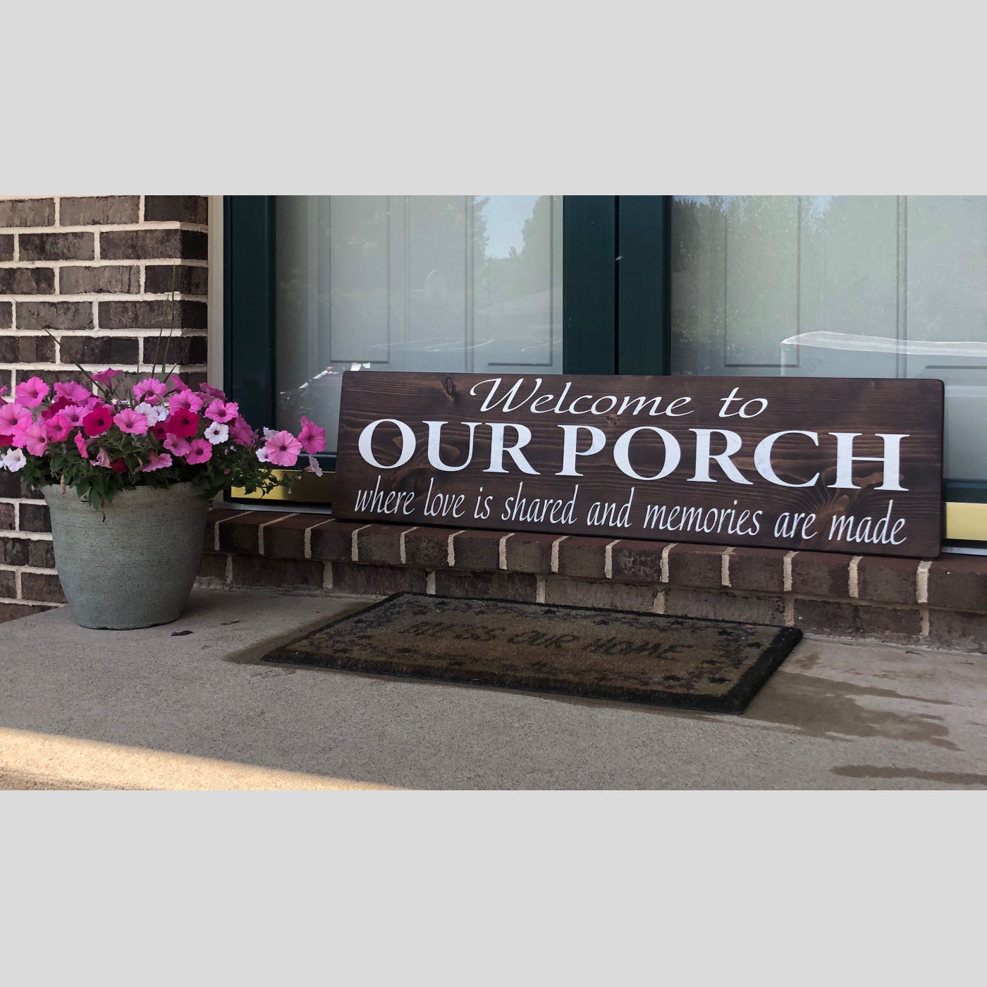 Welcome to Our Porch DIY Wood Sign Bethlehem PA