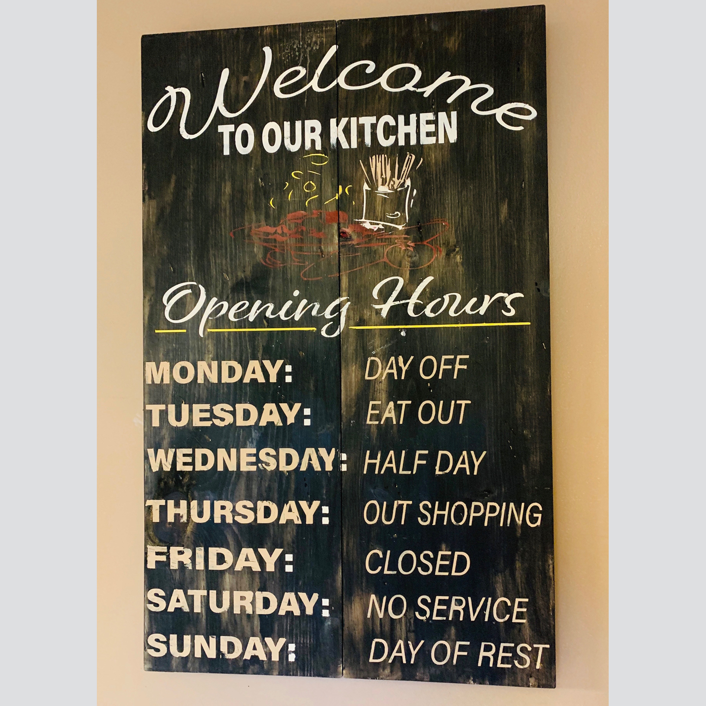 Welcome to our Kitchen Menu DIY Wood Sign Project