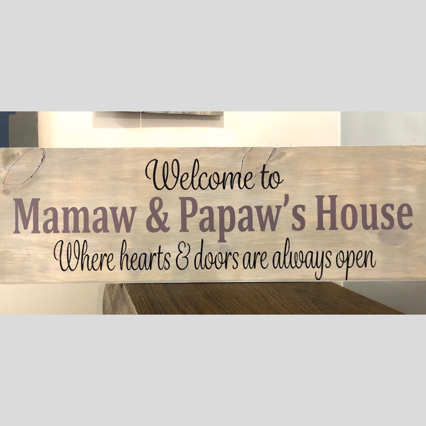 Welcome to...Where Hearts & Doors are Always Open DIY Wood Sign Bethlehem PA