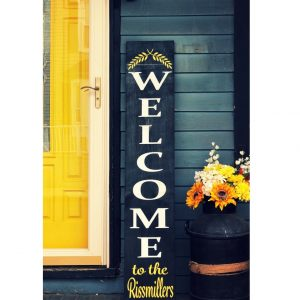 Welcome Sign with Branches and Personalization DIY Wood Sign