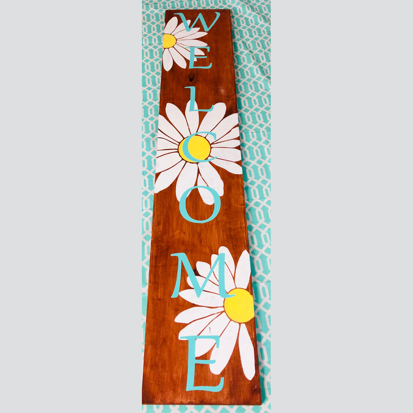 Welcome with Daisies DIY Wood Signs Spring